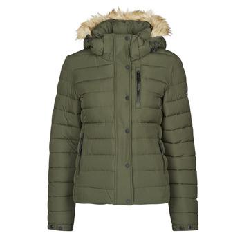 Textiel Dames Dons gevoerde jassen Superdry CLASSIC FAUX FUR FUJI JACKET Dark / Moss