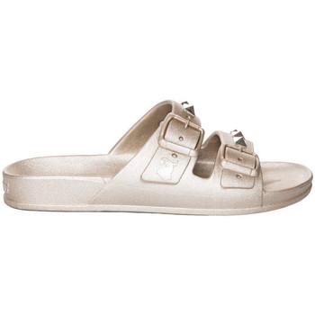 Schoenen Dames Leren slippers Cacatoès Lambada Goud