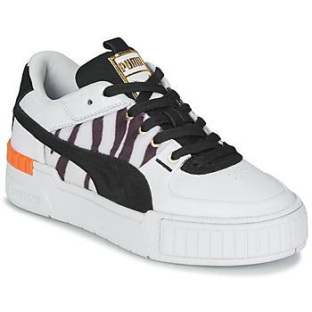 Schoenen Dames Lage sneakers Puma CALI SPORT WILD Wit / Zwart