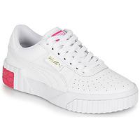 Schoenen Meisjes Lage sneakers Puma CALI JR Wit / Roze