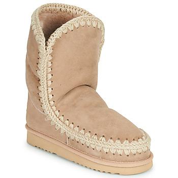 Schoenen Dames Laarzen Mou ESKIMO 24 Beige