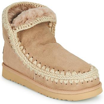 Schoenen Dames Laarzen Mou ESKIMO 18 Beige