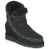 Schoenen Dames Laarzen Mou ESKIMO INNER WEDGE SHORT Zwart
