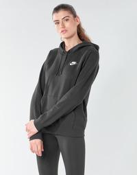 Textiel Dames Sweaters / Sweatshirts Nike W NSW ESSNTL HOODIE PO FLC Zwart