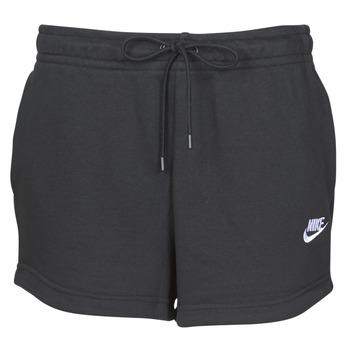Textiel Dames Korte broeken / Bermuda's Nike W NSW ESSNTL SHORT FT Zwart