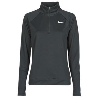Textiel Dames T-shirts met lange mouwen Nike W NK PACER HZ Zwart