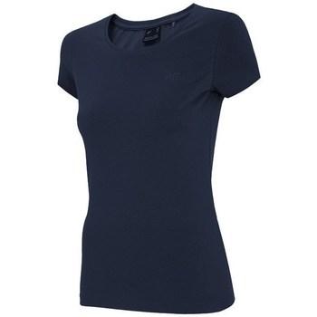 Textiel Dames T-shirts korte mouwen 4F TSD001 Bleu marine