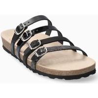 Schoenen Dames Leren slippers Mephisto NINON Zwart