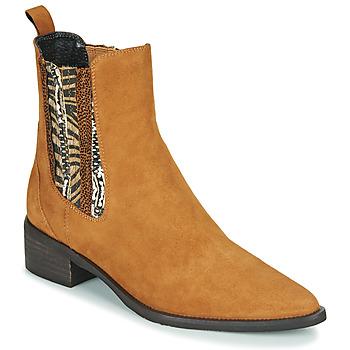 Schoenen Dames Laarzen Regard BASTIA V3 VEL HAVANE Brown