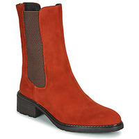 Schoenen Dames Laarzen Regard DAMGAN V2 VELOURS CHATAIGNE Rood