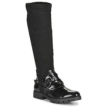 Schoenen Dames Hoge laarzen Regard CANET V1 VERNIS NOIR Zwart
