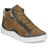 Schoenen Dames Hoge sneakers Regard ISLANDE V2 BONGO CHAMOIS Brown