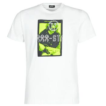 Textiel Heren T-shirts korte mouwen Diesel T-DIEGO J1 Wit