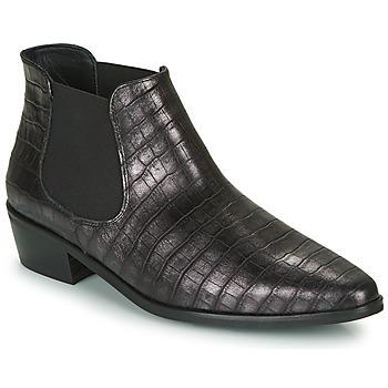 Schoenen Dames Laarzen Fericelli NANARUM Zwart / Zilver
