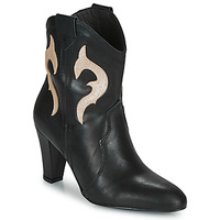 Schoenen Dames Enkellaarzen Fericelli NARLOTTE Zwart / Goud