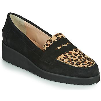 Schoenen Dames Mocassins Fericelli NECLAIR Zwart / Animal