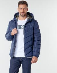 Textiel Heren Dons gevoerde jassen Guess SUPER LIGHT PUFFA JKT Marine