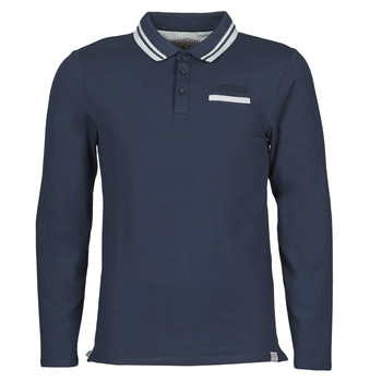 Textiel Heren Polo's lange mouwen Guess CLIVE LS POLO Marine