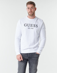 Textiel Heren Sweaters / Sweatshirts Guess BASTIAN CN FLEECE Wit