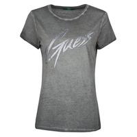 Textiel Dames T-shirts korte mouwen Guess SS CN IVONNE TEE Zwart