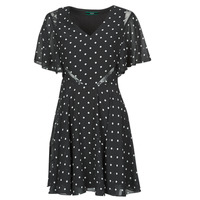 Textiel Dames Korte jurken Guess ELLA DRESS Zwart / Wit