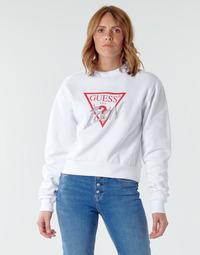 Textiel Dames Sweaters / Sweatshirts Guess ICON FLEECE Wit