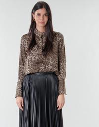 Textiel Dames Tops / Blousjes Guess VIVIAN Leopard