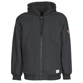 Textiel Heren Wind jackets Guess NAUGHTY BOMBER Zwart