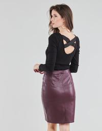 Textiel Dames Tops / Blousjes Guess AYADA Zwart