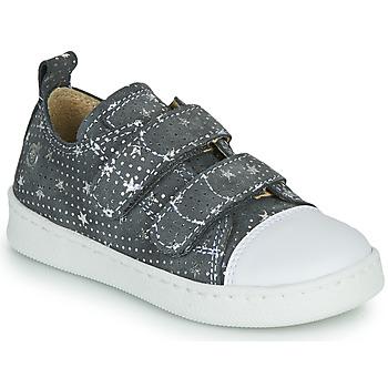 Schoenen Meisjes Lage sneakers Citrouille et Compagnie NADIR Grijs / Zilver
