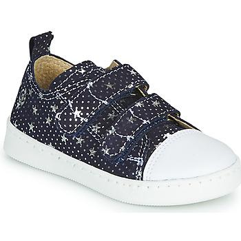 Schoenen Meisjes Lage sneakers Citrouille et Compagnie NADIR Marine / Zilver