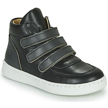 Schoenen Jongens Hoge sneakers Citrouille et Compagnie NOSTI Zwart / Grijs