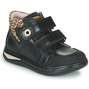 Schoenen Meisjes Hoge sneakers Pablosky 490611 Zwart / Leopard