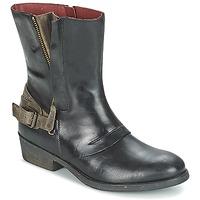Schoenen Dames Laarzen Kickers AMERIKO Zwart / Grijs