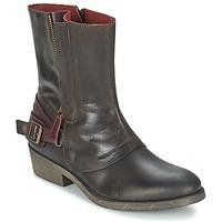 Schoenen Dames Laarzen Kickers AMERIKO Brown
