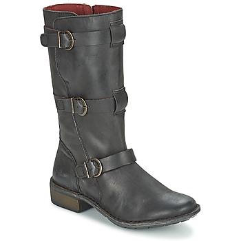 Schoenen Dames Hoge laarzen Kickers GROWUP Zwart