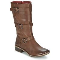 Schoenen Dames Hoge laarzen Kickers GROWUP Brown / Donker