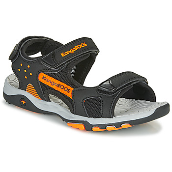 Schoenen Jongens Outdoorsandalen Kangaroos K-Celtic Zwart / Orange