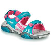 Schoenen Kinderen Outdoorsandalen Kangaroos Sandalshine Blauw / Roze
