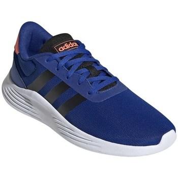 Schoenen Jongens Running / trail adidas Originals Lite Racer Blanc, Bleu, Orange