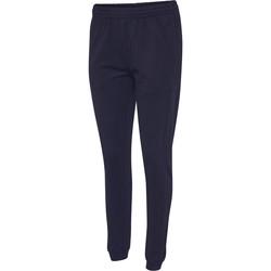 Textiel Dames Trainingsbroeken Hummel Pantalon femme  hmlGO cotton bleu marine