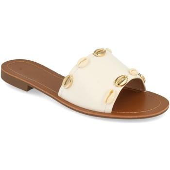 Schoenen Dames Leren slippers Buonarotti 1HA-0274 Blanco