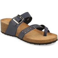 Schoenen Dames Leren slippers Tony.p BQ01 Azul