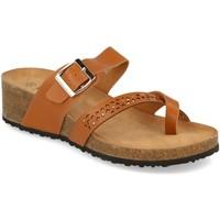 Schoenen Dames Leren slippers Tony.p BQ01 Camel