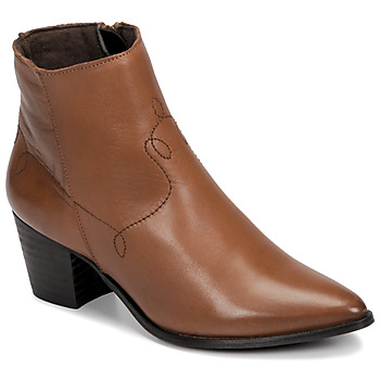 Schoenen Dames Enkellaarzen Betty London NIMIE  camel