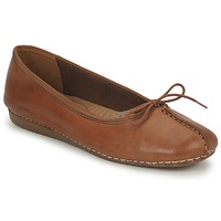 Schoenen Dames Ballerina's Clarks FRECKLE ICE Brown