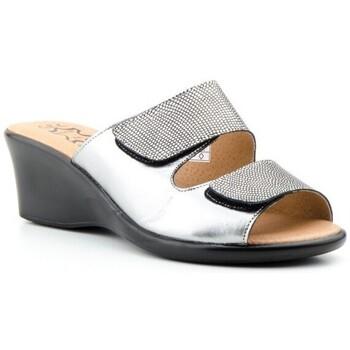 Schoenen Dames Leren slippers Cbp - Conbuenpie Sandalias de piel de mujer by Alto Estilo Argenté