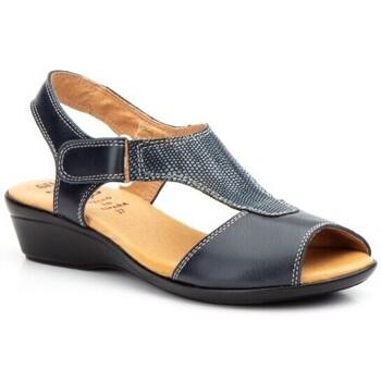 Schoenen Dames Sandalen / Open schoenen Cbp - Conbuenpie Sandalias con cuña de piel by Alto Estilo Bleu