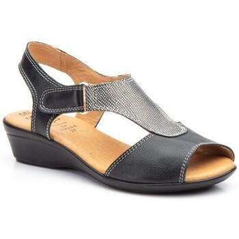 Schoenen Dames Sandalen / Open schoenen Cbp - Conbuenpie Sandalias con cuña de piel by Alto Estilo Noir