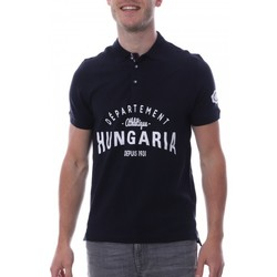 Textiel Heren Polo's korte mouwen Hungaria  Blauw